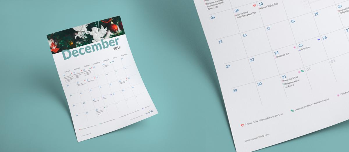 Cause Awareness & Giving Day Calendar
